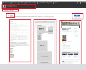 "Link to comparison of iterations on the ""View Example"" drop down for the Content Layout options page"